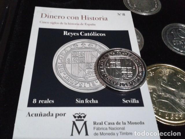 Reproducciones billetes y monedas: MONEDA CARLOS II 8 REALES 1691 SEGOVIA BAÑO DE PLATA PURA A 33 mm CON CERTIFICADO FNMT - Foto 3 - 189590911