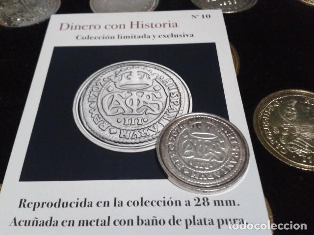 MONEDA ARCHIDUQUE CARLOS 2 REALES 1707 BARCELONA BAÑO DE PLATA PURA A 28 MM CON CERTIFICADO FNMT (Numismática - Reproducciones)