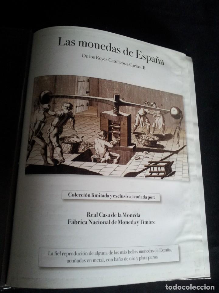 Reproducciones billetes y monedas: LAS MONEDAS DE ESPAÑA, DE LOS REYES CATOLICOS A CARLOS III - REAL CASA DE LA MONEDA 2013 - Foto 3 - 189701406