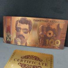 Reproductions billets et monnaies: FANTASTICO BILLETE EN HOMENAJE A QUEEN CON CERTIFICADO DE AUTENTICIDAD. Lote 220507218