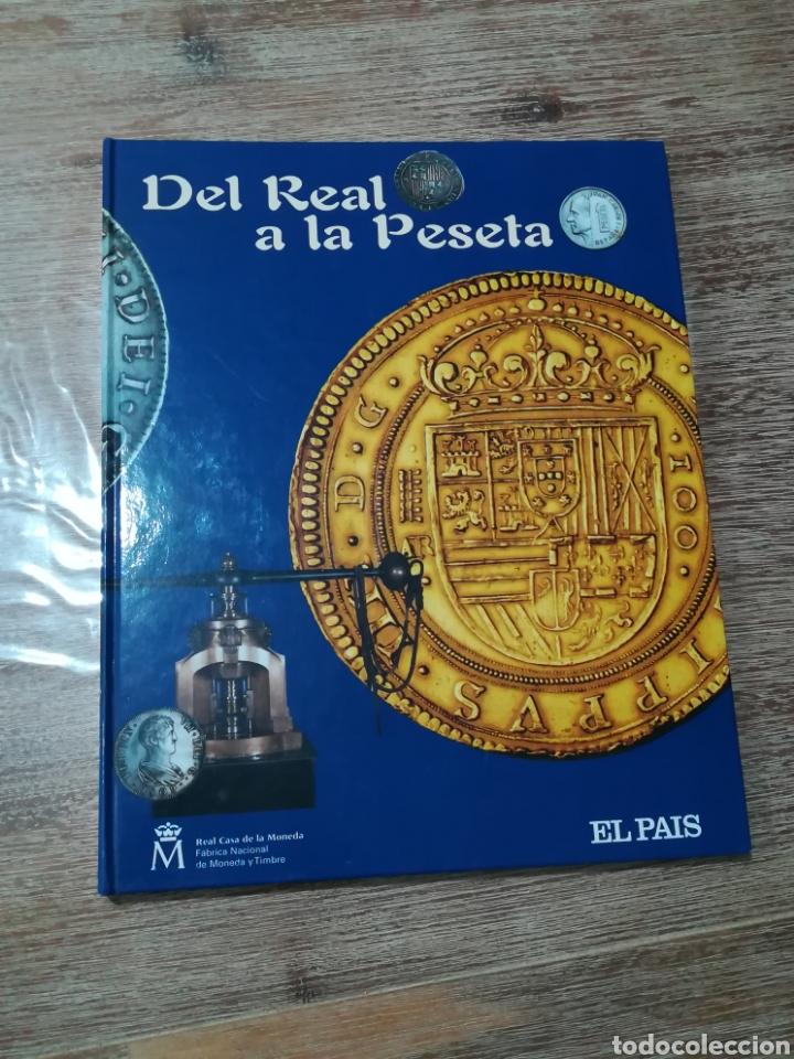 COLECCION COMPLETA DE 40 MONEDAS. ALBUM DEL REAL A LA PESETA (Numismática - Reproducciones)
