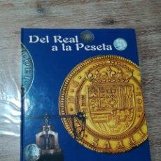Reproduções notas e moedas: COLECCION COMPLETA DE 40 MONEDAS. ALBUM DEL REAL A LA PESETA. Lote 192413998