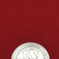 Reproducciones billetes y monedas: REPRODUCCIÓN FNMT. 10 CÉNTIMOS II REPÚBLICA 1938. BAÑO DE PLATA. Lote 192579091