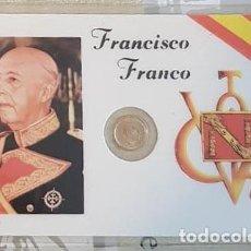 Reproducciones billetes y monedas: CARNET CONMEMORATIVO FRANCO CON MONEDA (3). Lote 192978675