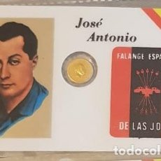 Reproducciones billetes y monedas: CARNET CONMEMORATIVO PRIMO DE RIVERA CON MONEDA (1). Lote 192979030