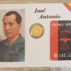 Reproducciones billetes y monedas: CARNET CONMEMORATIVO PRIMO DE RIVERA CON MONEDA (2). Lote 192979233