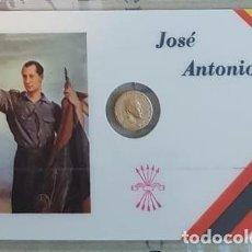 Reproducciones billetes y monedas: CARNET CONMEMORATIVO PRIMO DE RIVERA CON MONEDA (3). Lote 192979477