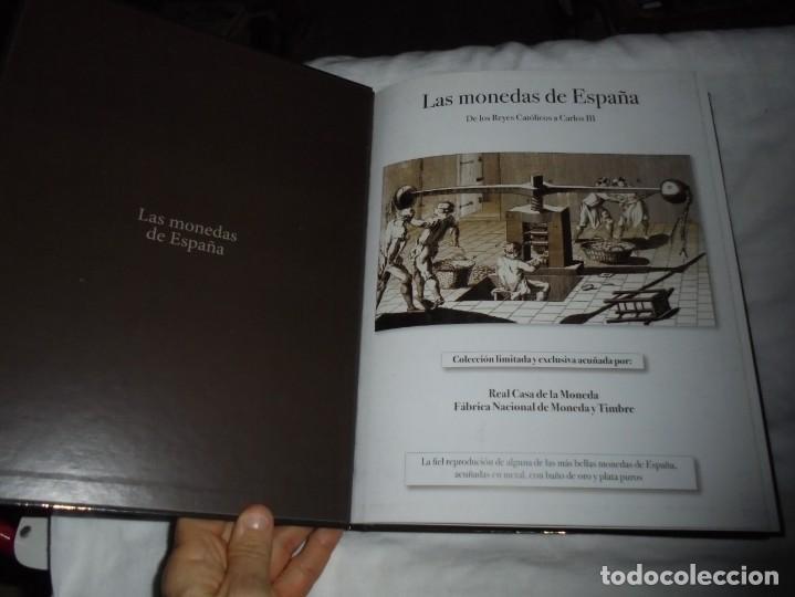 Reproducciones billetes y monedas: LAS MONEDAS DE ESPAÑA DE LOS REYES CATOLICOS A CARLOS III (20 MONEDAS CON BAÑO DE PLATA Y ORO)2013 - Foto 2 - 193967742