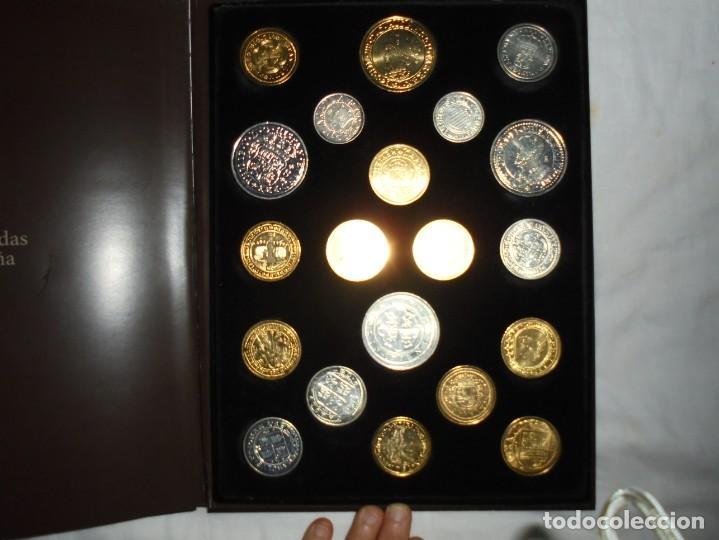 Reproducciones billetes y monedas: LAS MONEDAS DE ESPAÑA DE LOS REYES CATOLICOS A CARLOS III (20 MONEDAS CON BAÑO DE PLATA Y ORO)2013 - Foto 8 - 193967742