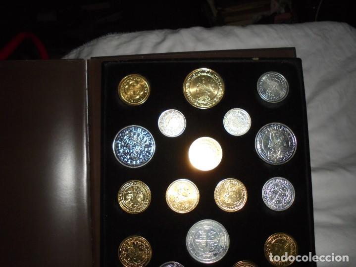 Reproducciones billetes y monedas: LAS MONEDAS DE ESPAÑA DE LOS REYES CATOLICOS A CARLOS III (20 MONEDAS CON BAÑO DE PLATA Y ORO)2013 - Foto 10 - 193967742