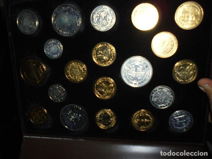 Reproducciones billetes y monedas: LAS MONEDAS DE ESPAÑA DE LOS REYES CATOLICOS A CARLOS III (20 MONEDAS CON BAÑO DE PLATA Y ORO)2013 - Foto 12 - 193967742
