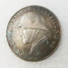Reproduções notas e moedas: MONEDA 3 III REICH.14 PANZER DIVISION 1940-1942. DESSCHLER MÜNCHEN.ALEMANIA NAZI .PANZERAUFKLÄR WWII. Lote 194140267