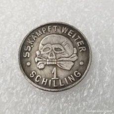 Reproducciones billetes y monedas: DINERO DE LA CANTINA DE LOS CAMPOS SS.1SCHILLING.TERCER REICH SEGUNDA GUERRA MUNDIAL.MEINE EHRE . Lote 194154881