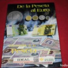 Reproducciones billetes y monedas: DE LA PESETA AL EURO HISTORIA DE LA PESETA 1999 FACSIMIL 180 Y 13 MONEDAS DE PLATA.. Lote 194354652