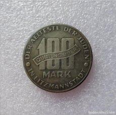 Reproducciones billetes y monedas: MONEDA 3 III REICH.GUETO JUDÍO POLONIA 1943 ALEMANIA HITLER NAZI.SEGUNDA GUERRA MUNDIAL 100 MARKS. Lote 194742292