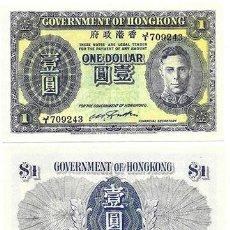 Reproducciones billetes y monedas: REPRODUCCION BILLETE. 1 DÓLAR DE 1945 (GOVERNMENT OF HONGKONG). COLECCIÓN EL MUNDO - BILL-724. Lote 194767347