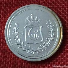 Reproducciones billetes y monedas: REPRODUCCIÓN FNMT - ESPAÑA - CARLOS VII - 5 PESETAS - 1875 - CECA OÑATE - BAÑO DE PLATA PURA - 28 MM. Lote 194865161