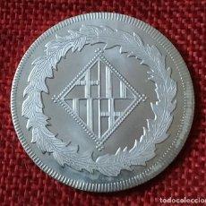 Reproducciones billetes y monedas: REPRODUCCIÓN FNMT - ESPAÑA - FERNANDO VII - 1811 - 5 PESETAS CECA BARCELON BAÑO PLATA PURA - 40 MM. Lote 194866941