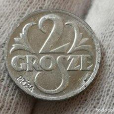 Reproducciones billetes y monedas: POLONIA 2 GROSZE PRUEBA DE CUŃO . Lote 194939301