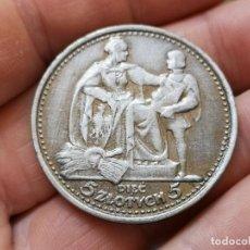 Reproducciones billetes y monedas: POLONIA 5 ZLOTY 1925 RARE. Lote 195006950