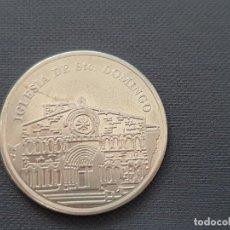 Reproducciones billetes y monedas: MONEDA DE PLATA. IGLESIA DE SANTO DOMINGO, SORIA. CAJA SALAMANCA Y SORIA. Lote 195125733