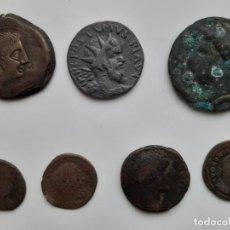 Reproducciones billetes y monedas: LOTE 7 MONEDAS COBRE MUY ANTIGUAS POSIBLES REPLICA. Lote 195285602