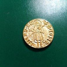 Reproducciones billetes y monedas: BONITA REPLICA DE FLORIN DE PEDRO IV BAÑO DE ORO. LEER DESCRIPCIÓN. Lote 195514087