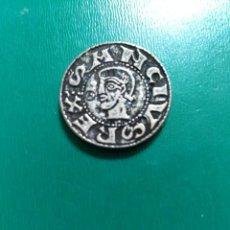 Reproducciones billetes y monedas: BONITA REPLICA DE DINERO DE VELLÓN DE SANCHO RAMÍREZ BAÑO DE PLATA. LEER DESCRIPCIÓN . Lote 195516596