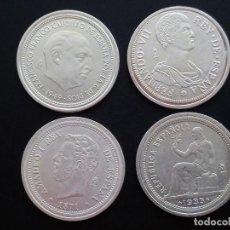 Reproducciones billetes y monedas: LOTE DE 4 REPRODUCCIÓNES BAÑADAS EN PLATA.. PRECIOSAS.. ..ES EL DE LAS FOTOS. Lote 196347940