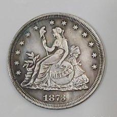 Reproducciones billetes y monedas: RÉPLICA MONEDA AMERICANA DE 1873.. Lote 196377145
