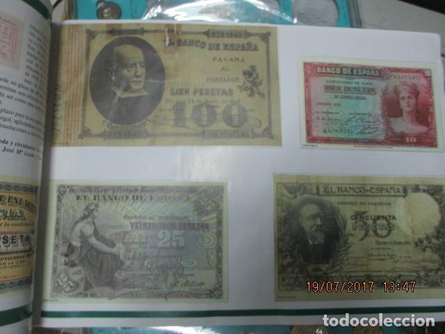 Reproducciones billetes y monedas: HISTORIA DE ALICANTE BILLETES Y MONEDAS COMPLETO ALBUM Y VITRINA DE MONEDAS - Foto 10 - 159837954