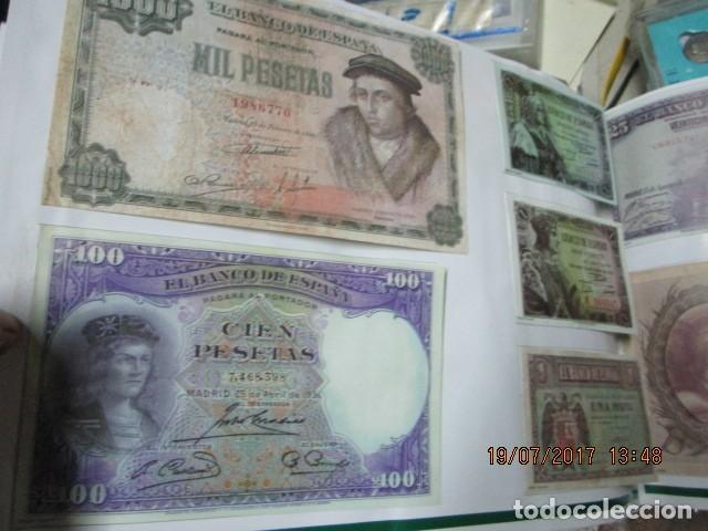 Reproducciones billetes y monedas: HISTORIA DE ALICANTE BILLETES Y MONEDAS COMPLETO ALBUM Y VITRINA DE MONEDAS - Foto 12 - 159837954