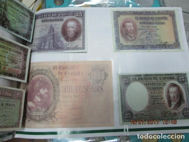 Reproducciones billetes y monedas: HISTORIA DE ALICANTE BILLETES Y MONEDAS COMPLETO ALBUM Y VITRINA DE MONEDAS - Foto 13 - 159837954