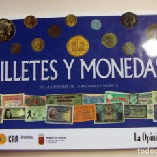 Reproduções notas e moedas: ALBUM FASCIMIL DE BILLETES EN LA HISTORIA DE MURCIA. Lote 197500145