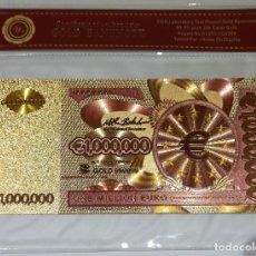 Reproductions billets et monnaies: BILLETE DE 1 MILLON DE EUROS - ORO 24 KT. - ESPECIAL COLECCIONISTAS. Lote 197573968