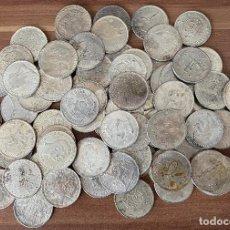 Reproducciones billetes y monedas: LOTE DE 100 MONEDAS DIFERENTES PAISES ,CUBIERTA DE PLATA. Lote 198549653