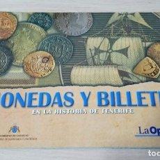 Reproduções notas e moedas: ALBUM DE BILLETES EN LA HISTORIA DE TENERIFE. VACÍO . Lote 198845480