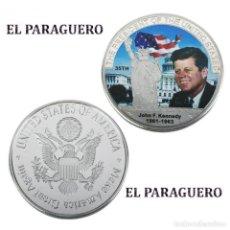 Reproducciones billetes y monedas: ESTADOS UNIDOS MEDALLA PLATA TIPO MONEDA ( HOMENAJE AL PRESIDENTE KENNEDY ) - PESO 34 GRAMOS - Nº3. Lote 199884620