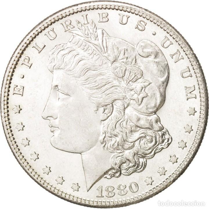 Reproducciones billetes y monedas: MORGAN USA REPRODUCCION ONE DOLLAR 1895 - Foto 2 - 200089766