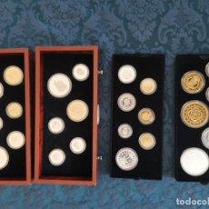 Reproducciones billetes y monedas: COLECCIÓN MONEDAS DE PLATA Y CHAPADAS EN ORO. HISTORIA DE LA MONEDA DE ESPAÑA. Lote 201204383