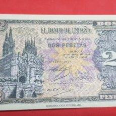 Reproducciones billetes y monedas: BILLETE 2 PESETAS. BURGOS 30 ABRIL 1938 REPRODUCCIÓN AUTORIZADA. Lote 201915616