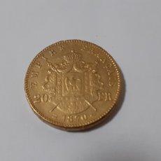 Reproducciones billetes y monedas: FRANCIA/ NAPOLEON III- 20 F DE ORO DE 1870 REPRODUCCION. Lote 201953082