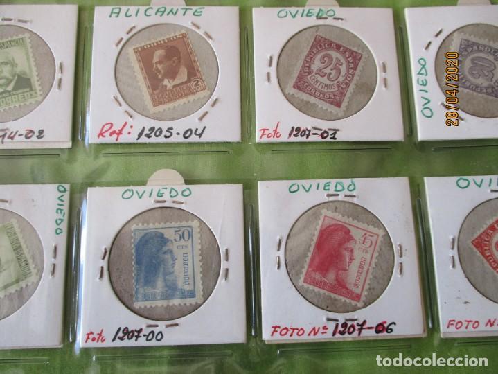 Reproducciones billetes y monedas: LOTE DE 99 CARTONES MONEDAS DE USO PROVISIONAL. 2ª REPUBLICA ESPAÑOLA. LEASE LAS CIUDADES MONEDAS: - Foto 3 - 202352561