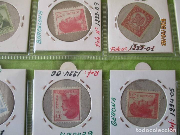 Reproducciones billetes y monedas: LOTE DE 99 CARTONES MONEDAS DE USO PROVISIONAL. 2ª REPUBLICA ESPAÑOLA. LEASE LAS CIUDADES MONEDAS: - Foto 5 - 202352561