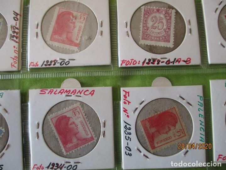 Reproducciones billetes y monedas: LOTE DE 99 CARTONES MONEDAS DE USO PROVISIONAL. 2ª REPUBLICA ESPAÑOLA. LEASE LAS CIUDADES MONEDAS: - Foto 7 - 202352561