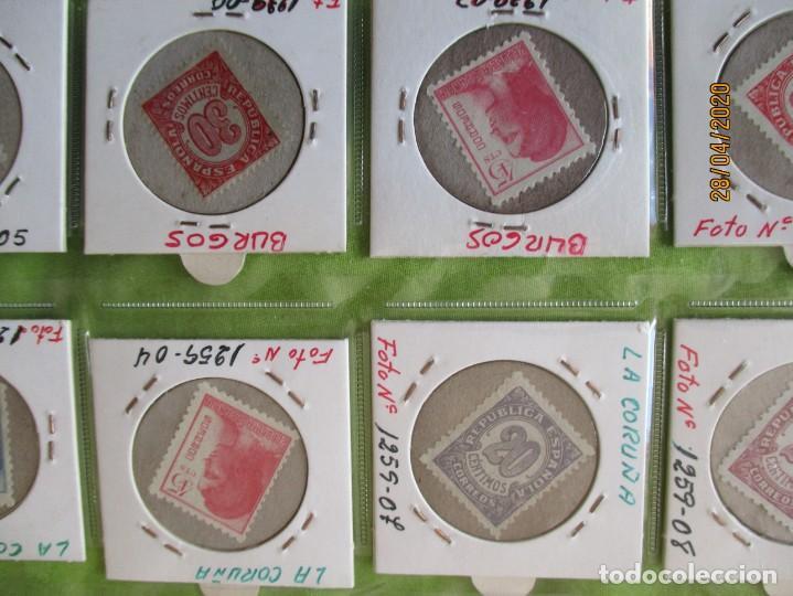 Reproducciones billetes y monedas: LOTE DE 99 CARTONES MONEDAS DE USO PROVISIONAL. 2ª REPUBLICA ESPAÑOLA. LEASE LAS CIUDADES MONEDAS: - Foto 11 - 202352561