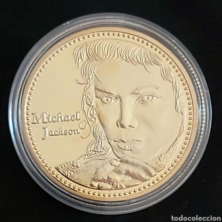 EL REY DEL POP MICHAEL JACKSON. MONEDA CONMEMORATIVA . (Numismática - Reproducciones)