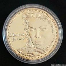 Reproducciones billetes y monedas: EL REY DEL POP MICHAEL JACKSON. MONEDA CONMEMORATIVA .. Lote 197563638