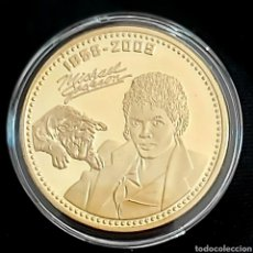 Reproducciones billetes y monedas: MICHAEL JACKSON . MONEDA CONMEMORATIVA . 1958-2009. CON FIRMA ACUÑADA.. Lote 201922936