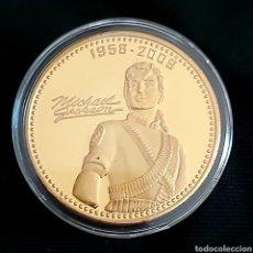 Reproducciones billetes y monedas: KING OF POP MICHAEL JACKSON. MONEDA CONMEMORATIVA . 1958-2009 HE IS MOON WALKING IN HEAVEN.. Lote 202663485